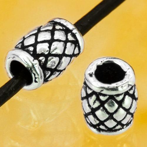 Silber Perlen zylindrisch Raute Sterling Silber 925 6 x 4 mm