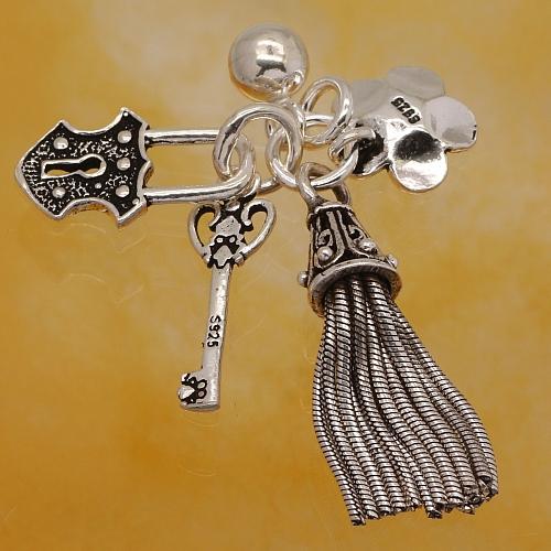 Silberperle Charm Sterling Silber 925 24mm