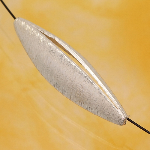 Silberperlen Oval gebürstetes Sterling Silber 925 Knospe 31x9mm