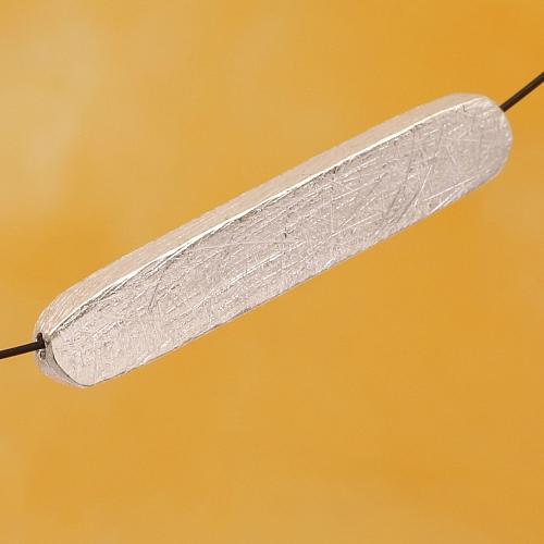 Silberperle quadratisch gebürstetem Sterlingsilber 925 28x5mm