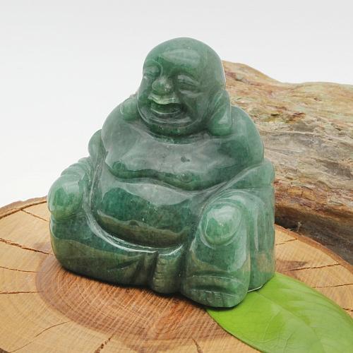 Aventurin Buddha 002 Edelstein Natur 65x60x40mm