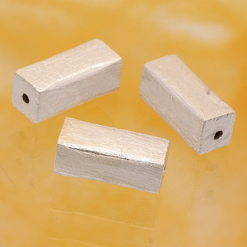 Längsperle 925er Silber gebürstet 14x6 mm