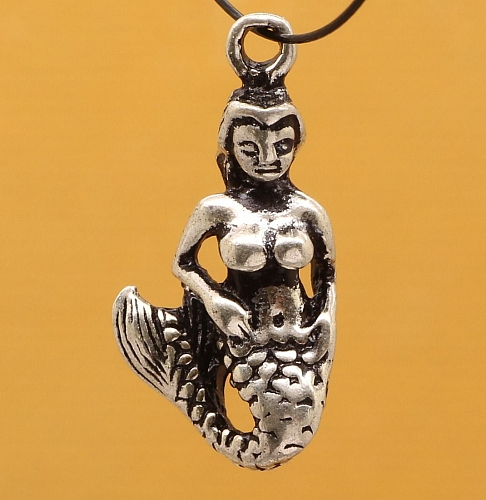 Silber Charm Meerjungfrau Anhänger Sterling Silber 925 16x7mm
