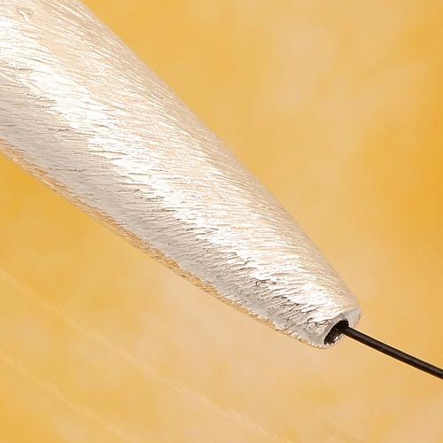 925er Silberperle Oval gebürstet  60x9mm