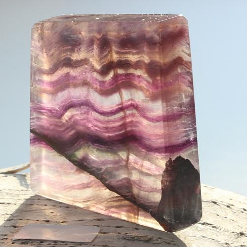 Edelsteinscheibe Fluorit Regenbogen Nr. F8  50x50x9mm