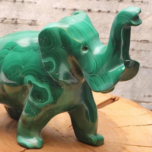 Malachit Elefantenfigur Manni