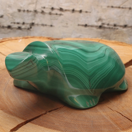 Schildkröte Hannes aus Malachit 60x25x35mm Edelstein Tier