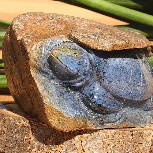 Schildkröte im Muttergestein aus Dumortierite 130x60x100mm