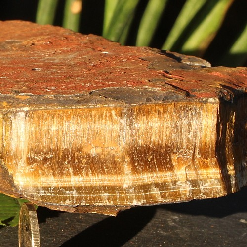 Tigereye Rough Semi-Precious Stone  18x18x4cm  3,6kg