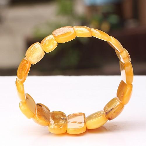 Bernsteinarmband Gelb Naturbernstein 26-43mm
