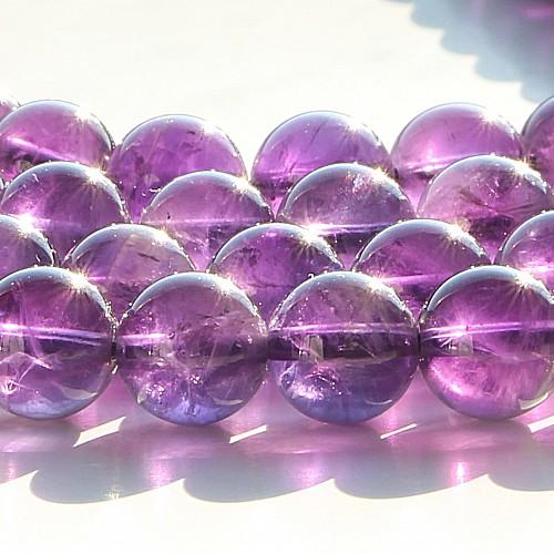 Amethyst Perlen 8mm Kugel  AA