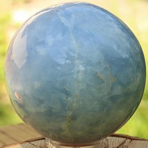 Kugel aus Calcit Blau Steinkugel 70mm