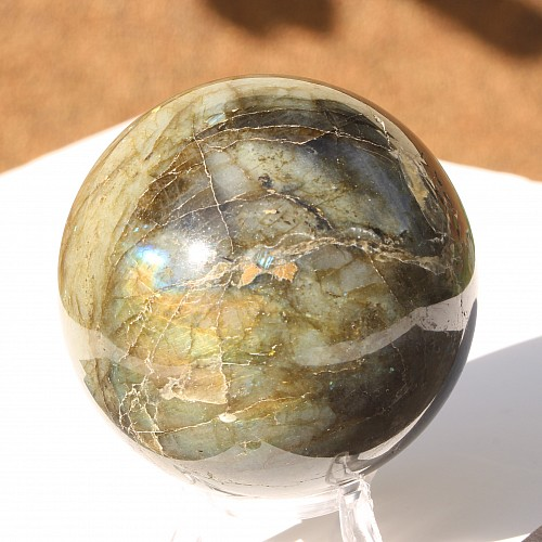 Labradorite sphere 65mm
