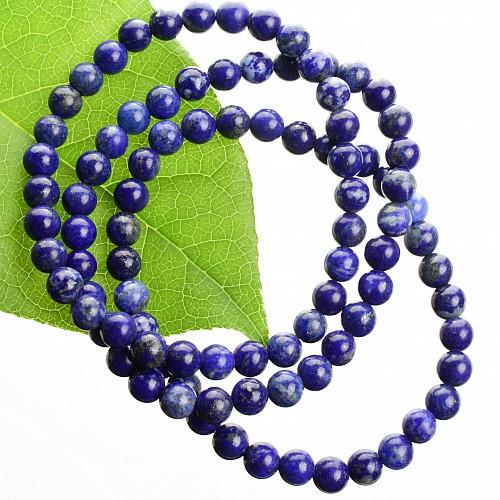 Lapislazuli-Armband  Edelstein Perlen 4 mm