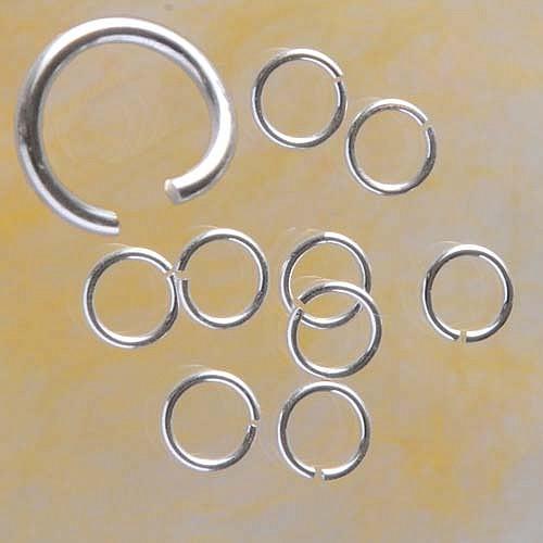 Bindering offen 5.9x1.25mm Biegering sehr stark Silber 925 Schmuckzubehör