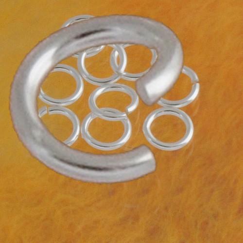 Bindering offen 10.0x1.6mm Biegering sehr groß und stark 925er Silber