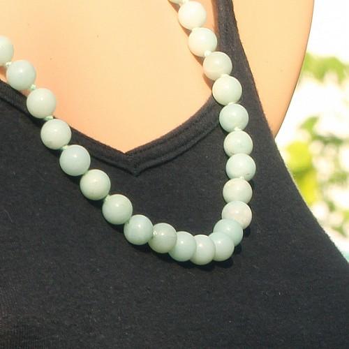 Amazonitkette chinesicher Amazonit 8mm Perlen 60cm