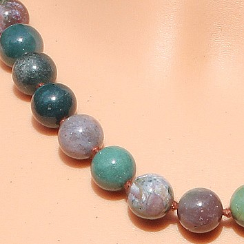Agate Chain Gemstone Chain Natural about 45cm / 12mm beads