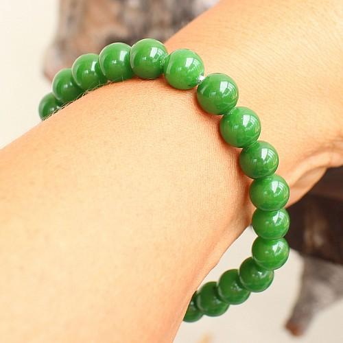 Nephrit Jade Armband 8mm AA Edelsteinperlen aus echter Jade