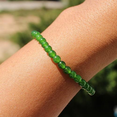 Chromediopside Bracelet Balls 5 mm