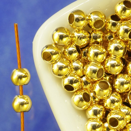Gold Perle 8mm Goldfilled Loch 2.0mm 1/20 14K Ham.