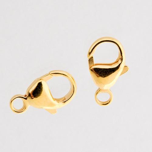Goldverschluss Gold Karabiner Verschluss 13mm fester Ring Gold Filled 14Karat 1/20 Hamilton