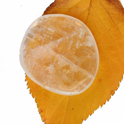 Calcit weiss transparent Doppelspat Flacher Calcit Stein A Qualität