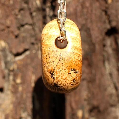 Landschaftsjaspis Anhänger 15-20mm kleine Jaspis Steine mit Loch