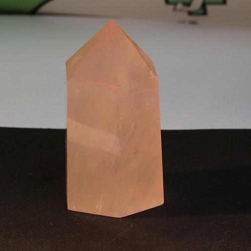 Obelisk Rosenquarz Spitze 50mm