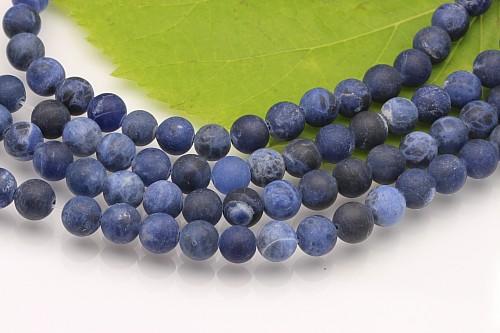 Sodalit Perlen matt 10mm ca 39cm Strang