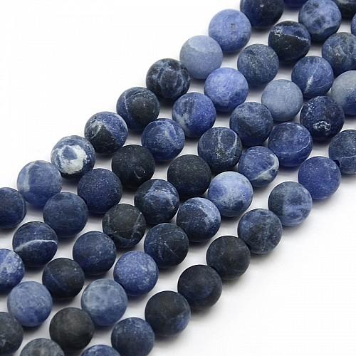 Sodalit Perlen matt 6mm ca 39cm Strang