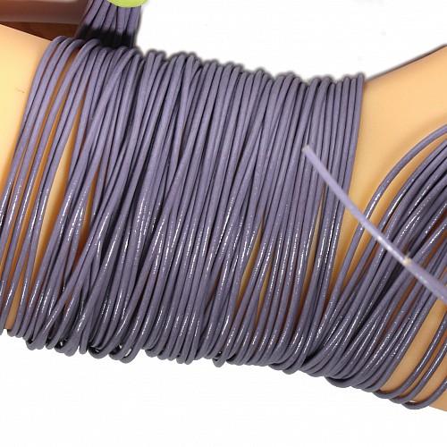 Lederband Flieder Violett Ziege rund 1 Meter 1,5mm
