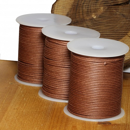 Cotton Cord 1.5mm 50 Meter light brown