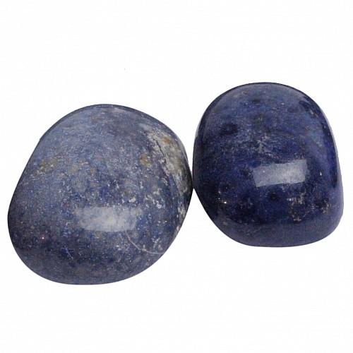 Dumortierite Tumbled Stones 200 Grams 9-11 pcs