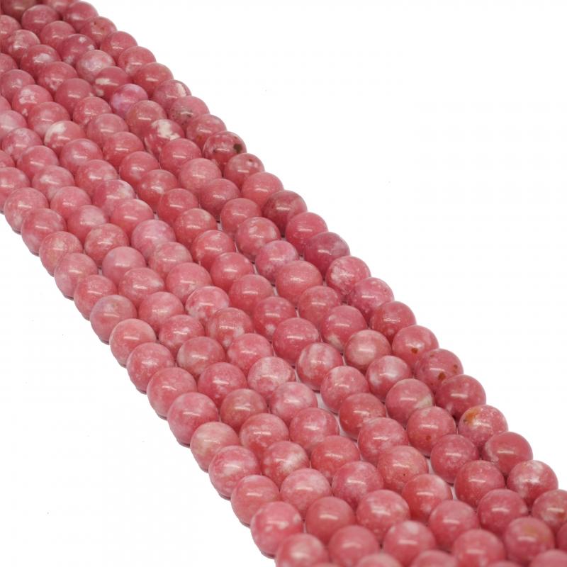 Thulite Gemstone Beads 6mm A