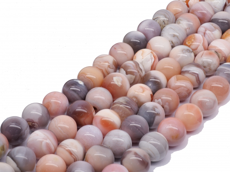 Agate Beads Pink Nature Gemstone Beads 10mm 40cm