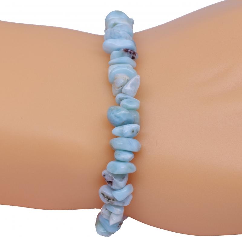 Larimar bracelet A Tumbled Small Gemstones