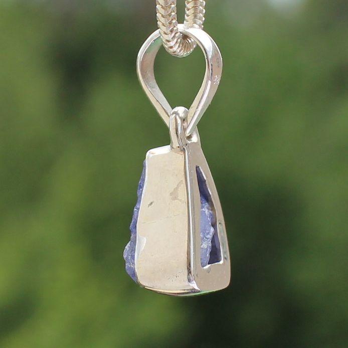Tansanit Anhänger Stein Sterling Silber 925 12X8mm
