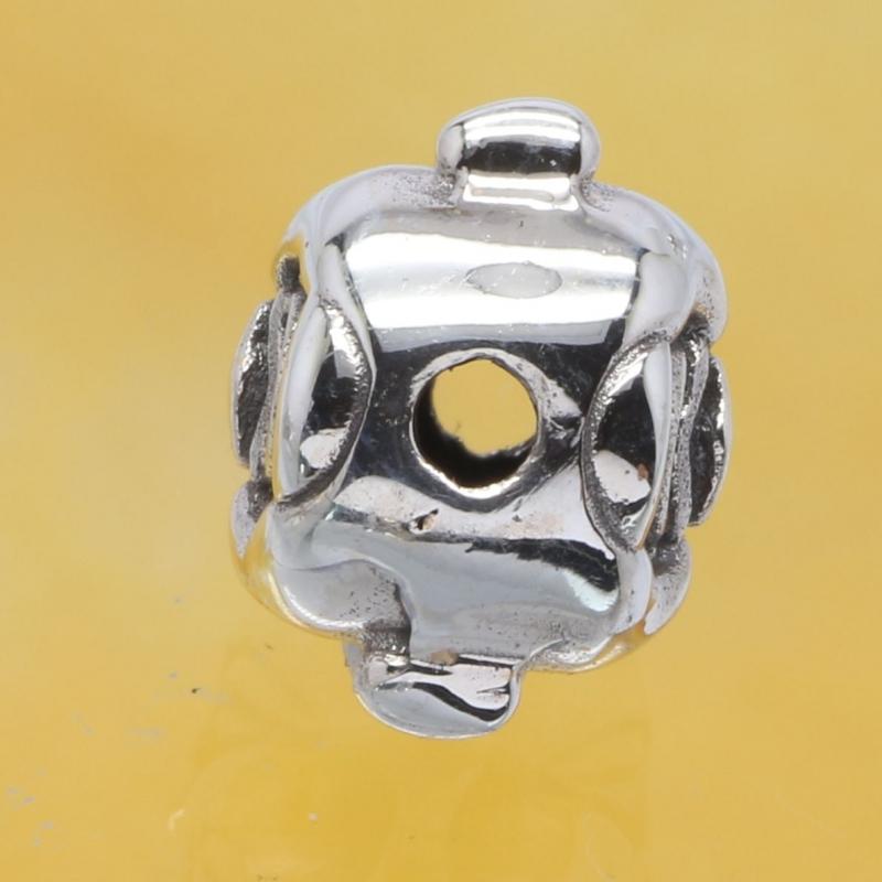 Silver Beads Buddha Sterlingsilver 925 12x9mm