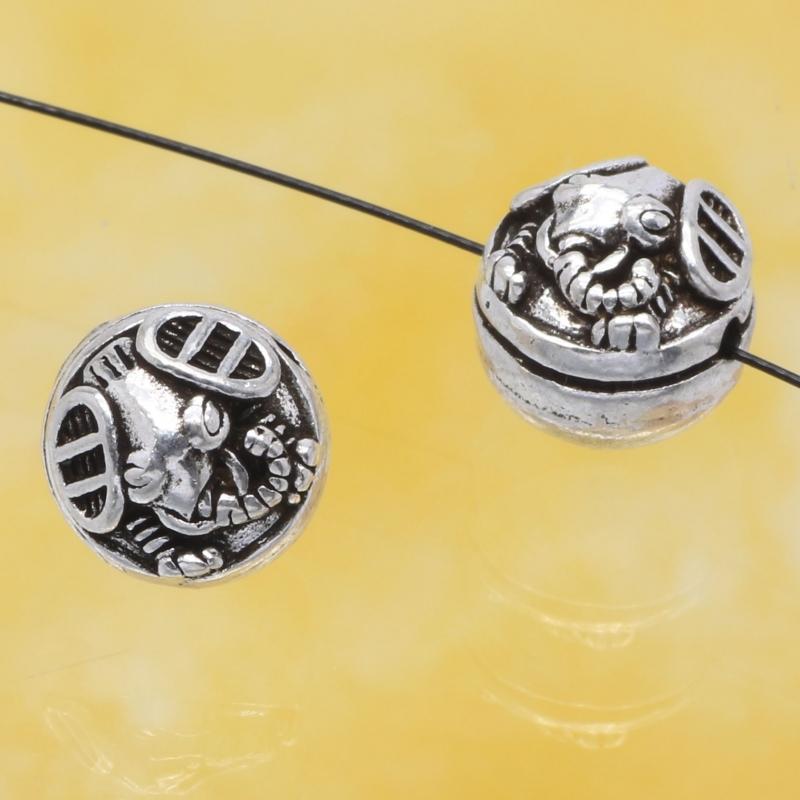 Silberperlen Scorpion Silber 925 10mm