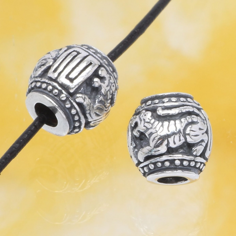 Silver Bead The Year Of TheTiger Sterlingsilver 925 10mm