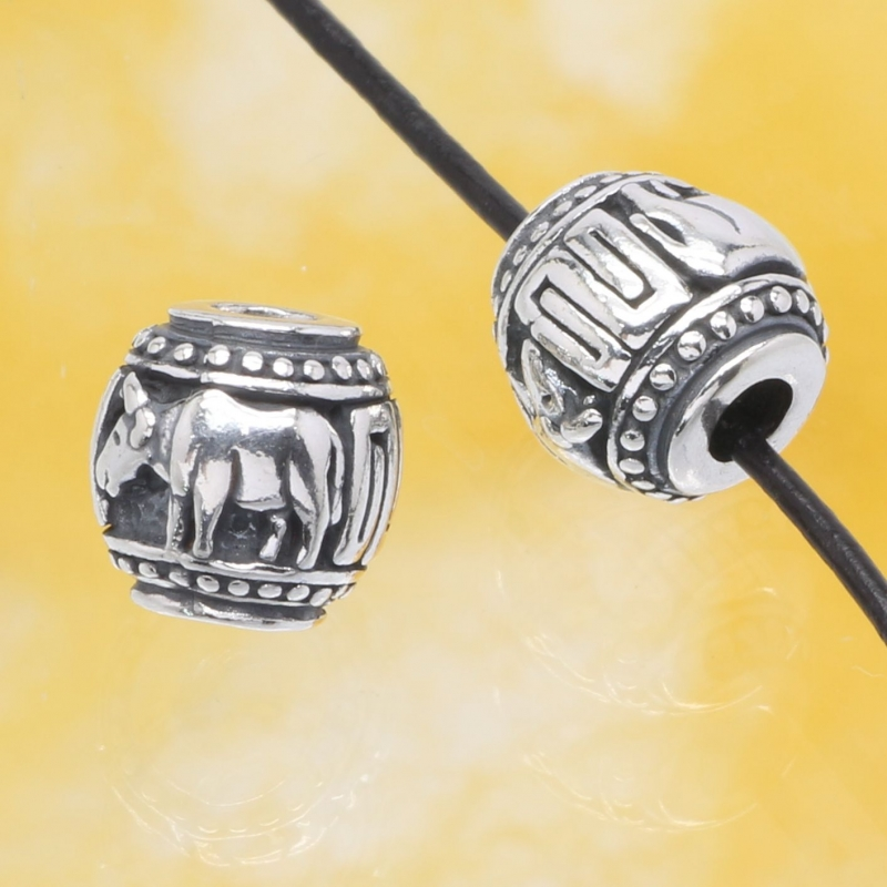 Silberperle Kuh - Das Jahr der Kuh Sterlingsilber 925 10mm