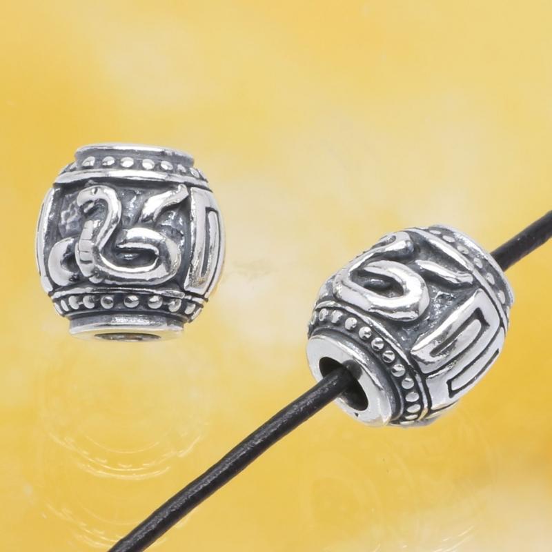 Silberperle - Das Jahr der Schlange - Sterlingsilber 925 10mm