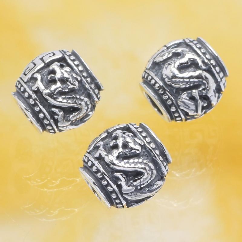 Silberperlen Das Jahr des Drachen Sterling Silber 925 10mm