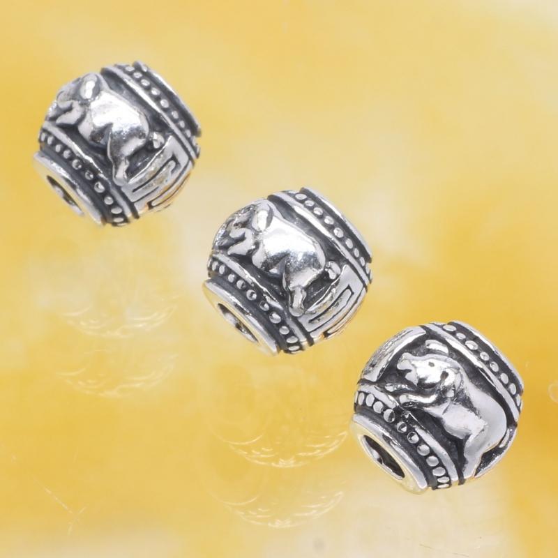 Silberperle Schwein Chinesisches Sternzeichen Silber 925 10mm
