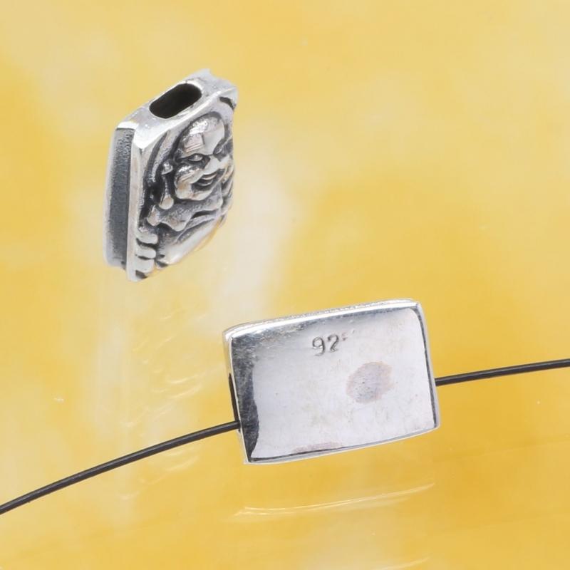 Silberperle Chinesischer Mönch Sterling Silber 925 10x7mm