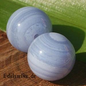 Chalcedon Anhänger gebändert Kugel 10mm Perle