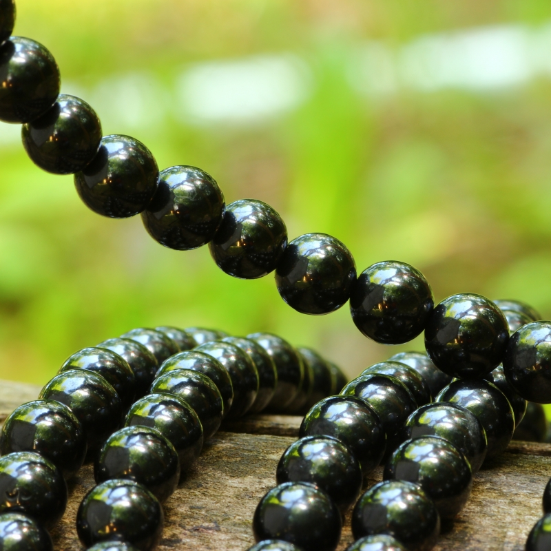 Turmalin Black Beads 8mm 40cm