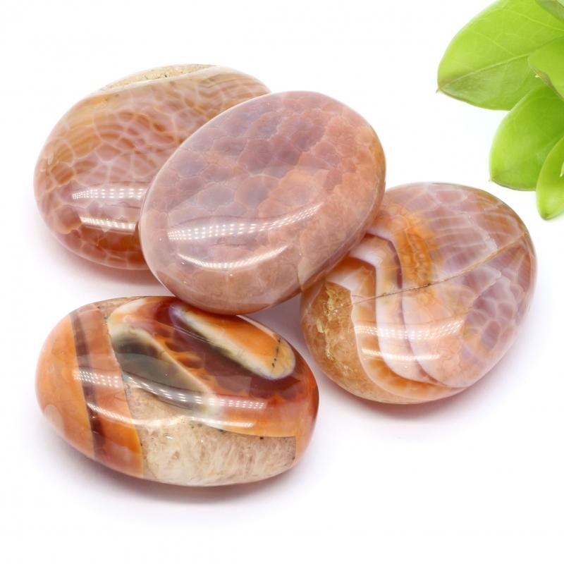 Agate Fire Agate Soap Shape Stone A 30/35*40/45mm