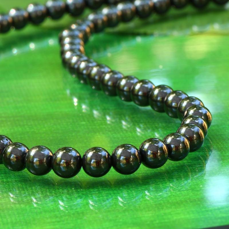Turmalin Schwarz Perlen AA 12mm Turmalinperlen 40cm